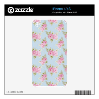 Pink Rose Decal For The iPhone 4S