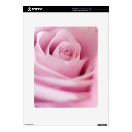 Pink Rose Decals For iPad