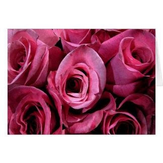 Pink rose design cards