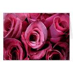 Pink rose design greeting card