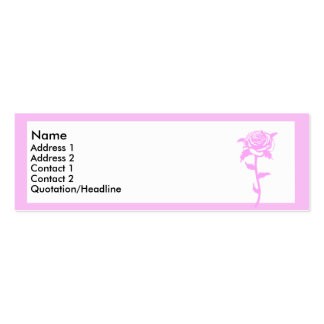 Pink rose Double-Sided mini business cards (Pack of 20)