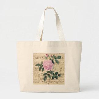Pink Rose Dream Large Tote Bag