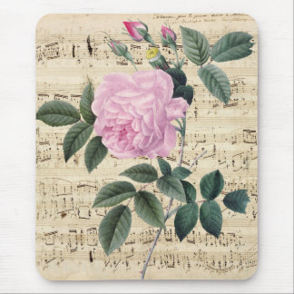 Pink Rose Dream Mouse Pad