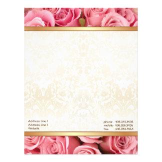Pink Rose Elegance Letterhead