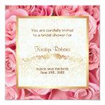 Pink Rose Elegance - Shower 5.25x5.25 Square Paper Invitation Card