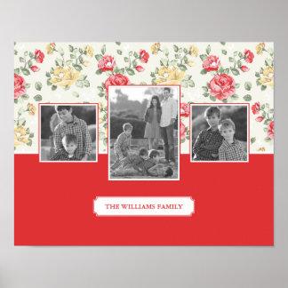 Pink Rose Elegant Wallpaper | Family Photos & Text Poster