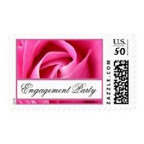 Pink Rose Engagement Party V02 Postage