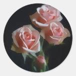 Pink Rose Envelop Seal Stickers