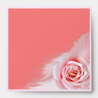 Pink rose envelope