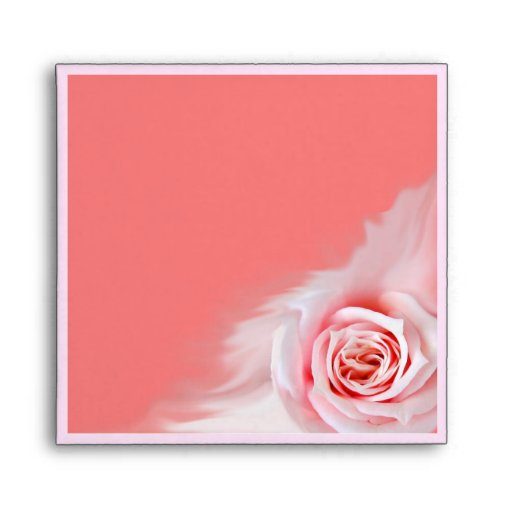 Pink rose envelope