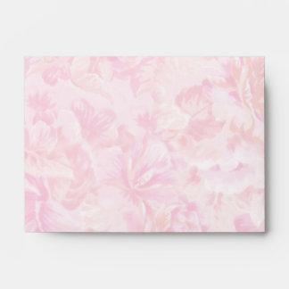 Pink Rose Fabric Envelope