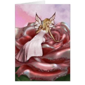 Pink Rose Faery (Card) Card