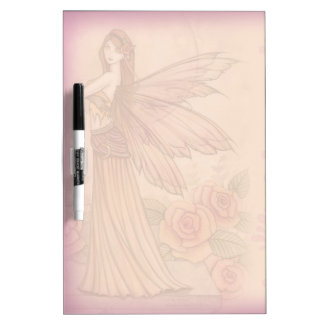 Pink Rose Fairy Dry Erase Board
