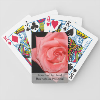 pink rose five string bass strings dark back music bicycle playing cards