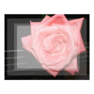 pink rose five string bass strings dark back music letterhead design