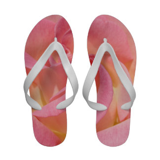 Pink Rose Flip Flops Yellow Summer sandals Roses