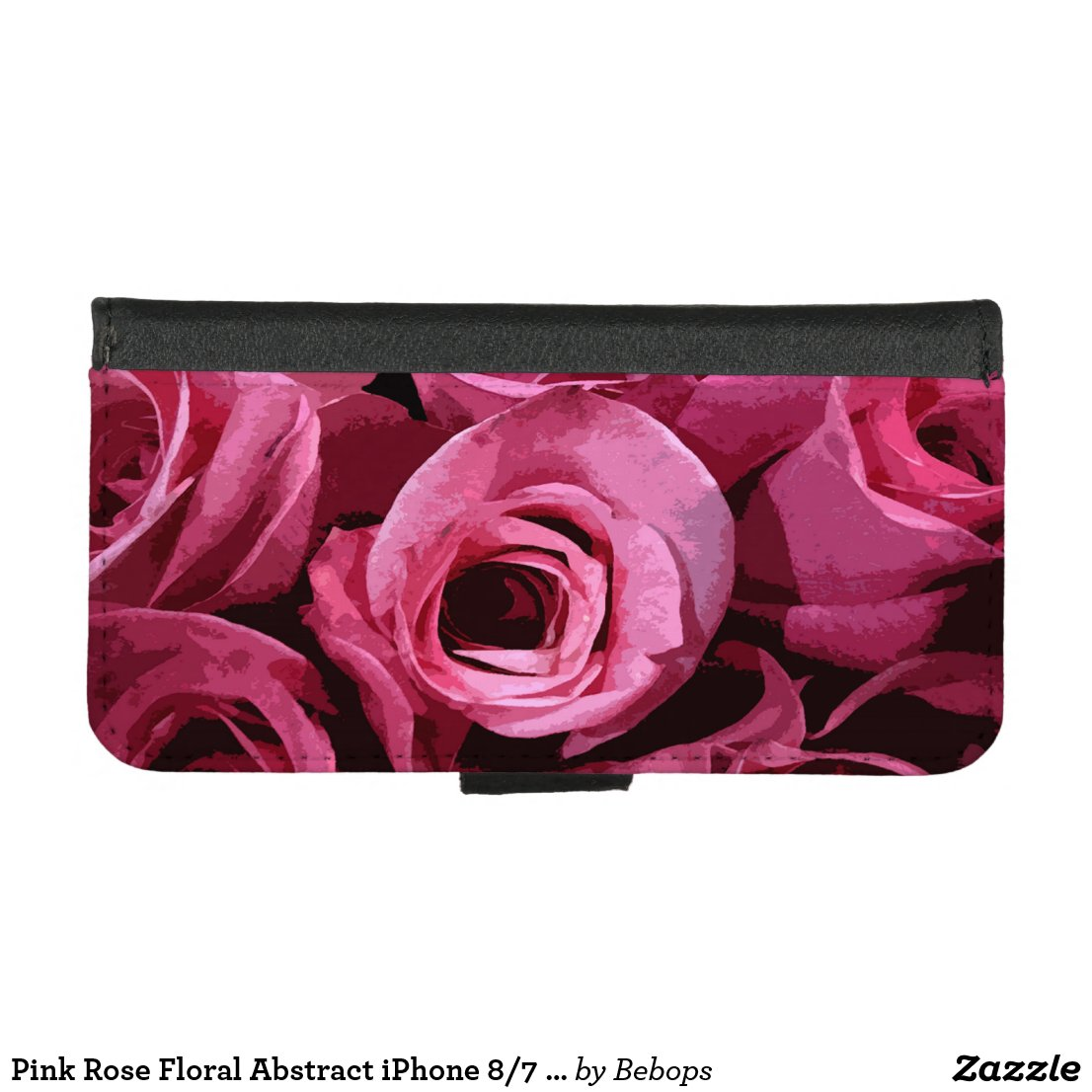 Pink Rose Floral Abstract iPhone 8/7 Wallet Case