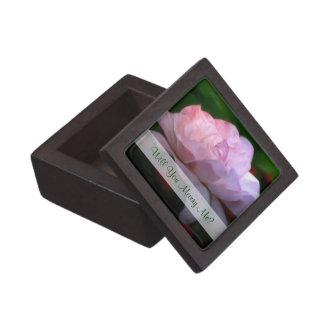 Pink Rose Floral Art Engagement Ring Gift Box
