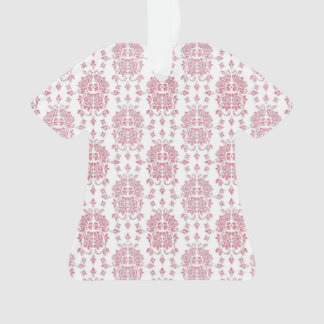 Pink Rose Floral Damask Style Pattern Ornament