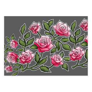 Pink Rose Floral Large Business Cards (Pack Of 100)