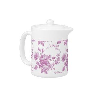 Pink Rose Floral Pattern Teapots