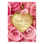 Pink Rose Floral Wedding Thank You Large Business Cards (Pack Of 100)