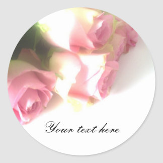 Pink rose flower bouquet wedding stickers