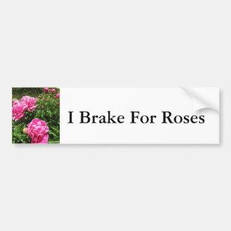PINK ROSE - flower close up Bumper Sticker