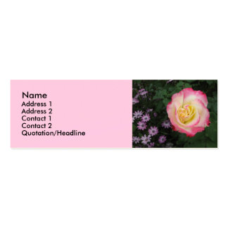 Pink Rose Flower Double-Sided Mini Business Cards (Pack Of 20)