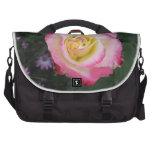 Pink Rose Flower Laptop Bag
