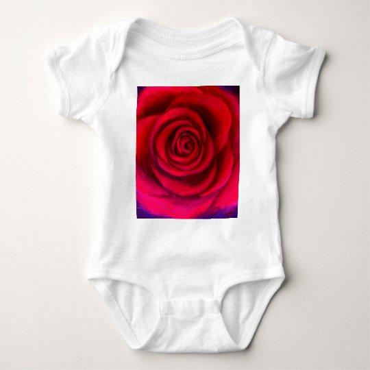 Pink Rose Flower Painting Art - Multi Baby Bodysuit