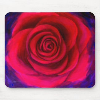 Pink Rose Flower Painting Art - Multi Mousepads