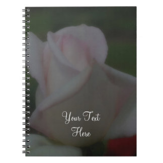 Pink Rose Flower Personalized Notebook