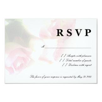 Pink rose flower RSVP wedding cards