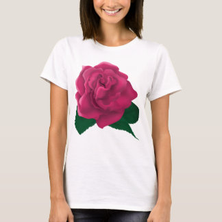Pink rose flower T-shirt