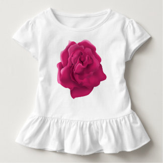Pink rose flower Toddler Ruffle Dress