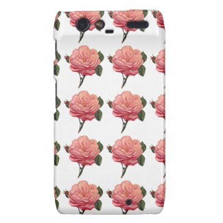 Pink Rose Flowers Motorola Razr Case