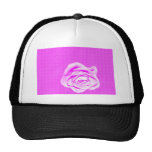 Pink Rose Flowers Vines Pattern Office Party Peace Mesh Hat