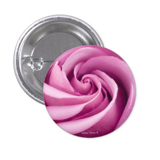 Pink Rose Folded To Perfection Button