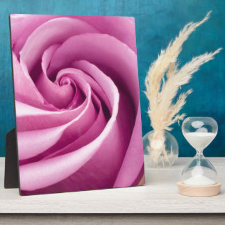 Pink Rose Folded to Perfection-Plaque Plaque
