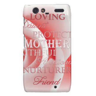 Pink Rose for Mom Droid RAZR Covers
