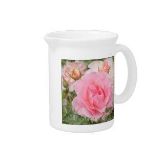 """Pink rose """"Fragrant Cloud"""" Beverage Pitcher"""