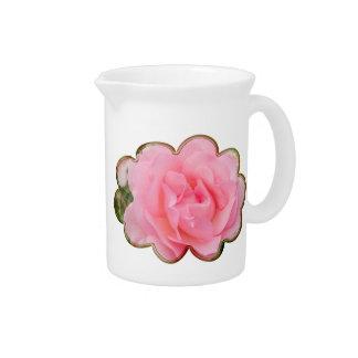 "Pink rose ""Fragrant Cloud"" Pitcher"