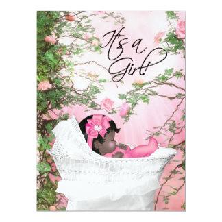 Pink Rose Garden Baby Girl Shower Invitations