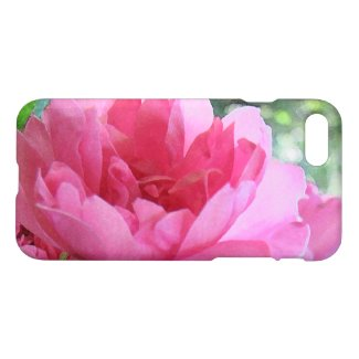 Pink Rose Garden Flowers Floral iPhone 7 Case