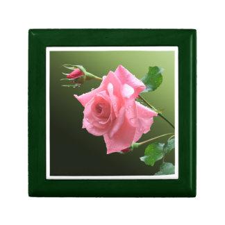 Pink Rose Trinket Boxes