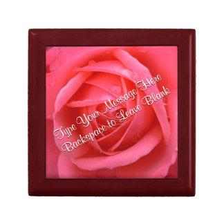 Pink Rose Gift Box Personalize Rose Jewelry Box