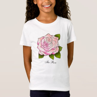 Pink Rose Girl's Top
