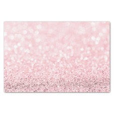 Pink Rose Gold Blush Glitter Delicate White Girly Tissue Paper