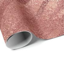 Pink Rose Gold Blush Peach Animal Skin Safari Wrapping Paper
